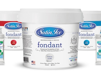 Satin Ice Fondant/ Available in  a variety of colors./ 2 Lbs.
