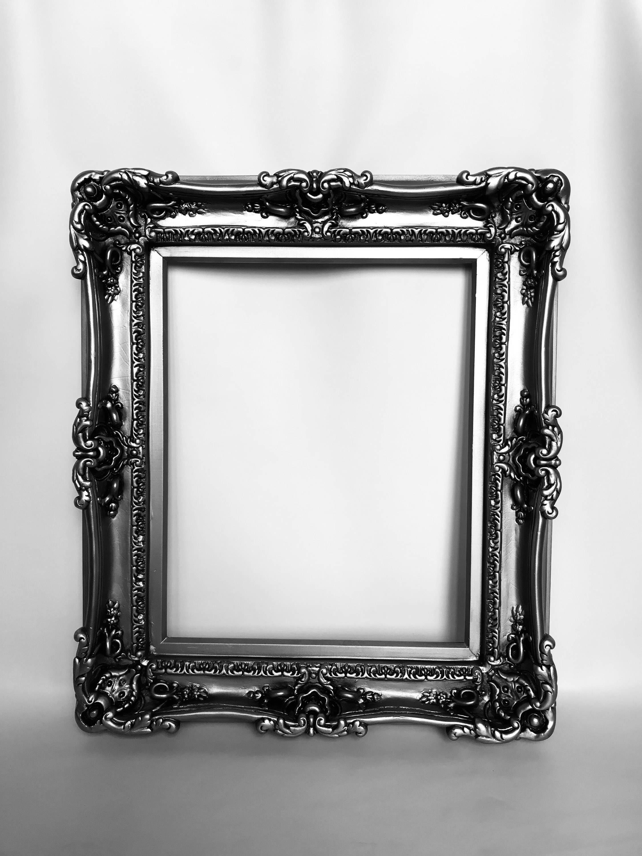 20x24 Silver Steel Frames, Baroque Frame, Frame for Canvas, Frame ...