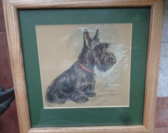 Scotty Dog Print by Lucy Dawson 1946