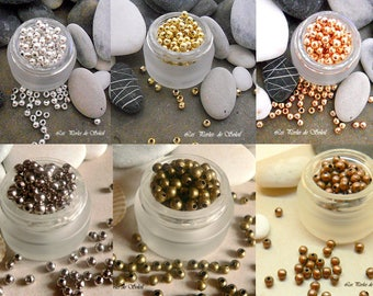 50 spacer beads 4mm metal - 6 colors to choose from