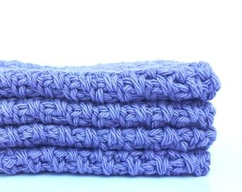 DISHCLOTH SET of 4 crochet dish cloth, dishcloths cotton dishcloths kitchen dishcloth washcloths Kitchen Gift Handmade cotton