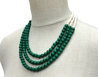 and bead karatcart kundan necklace set for beads women buy online dp green