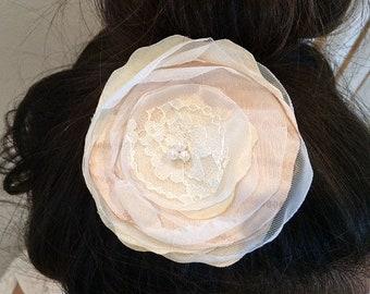 Rustic Rose Hair Flower