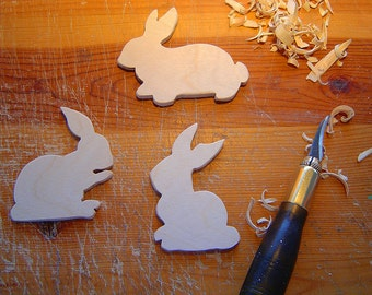 RABBITS - Rabbits - Rabbits - Rabbit Mobile for Nursery - Hand Carved Rabbits - Ready to Finish YOUR WAY -  Easter Decor