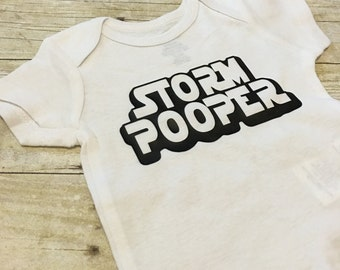 Storm Pooper   Funny Baby Onesie   Storm Trooper   Baby Boy Gift   Baby Shower Gift   Baby Bodysuit   Storm Pooper Onesie