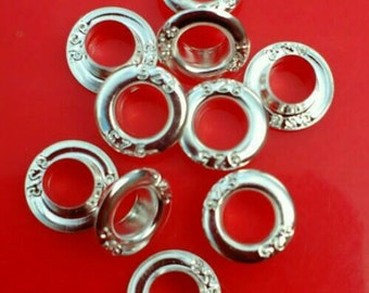 10-100x Sterling Silver grommets eyelets rivets troll beads cores euro european charm bracelet 925 findings snake chain necklace big hole