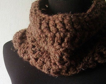 How Now Brown Cowl Neckwarmer Wrap in Mocha Chocolate Brown