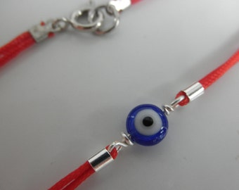 evil eye bracelet on red string