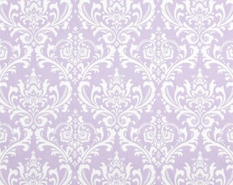 Pillow covers 18 x 18 Zipper Closure Damask pillow cover Ozbourne Wisteria Purple White Pillow Cover Decorative Throw Pillow 18x18