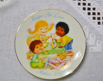 Vintage Avon Mothers Day Plate 1993 Recipe For Love Collectible Plate PanchosPorch