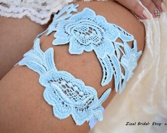 Garter Set, Wedding Garter Blue, Light Blue Garter, Wedding Garter, Bridal Garter, Something Blue, Wedding Gift, Handmade Garter, Garter Set