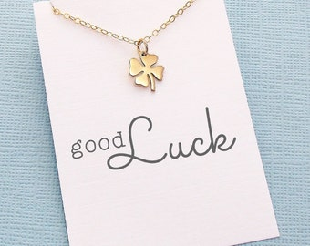 Best Friend Necklace | Four Leaf Clover Necklace, Best Friend Gift, Graduation Gift, Friendship Necklace, Best Friend, Bestfriend Gift | X08