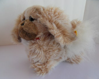 Steiff dog pekinese large all IDs  made in Germany 2508