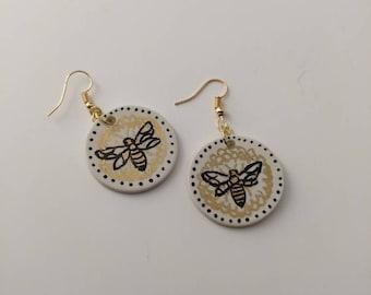 Lucky bee earrings