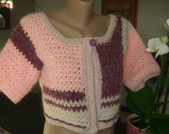 short vest pink and Burgundy size 36/38