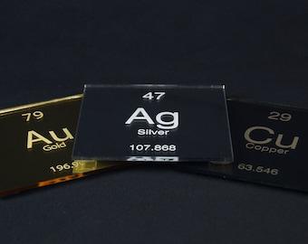 Gold/ Silver/ Copper Element Coaster