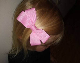 "Pink 4"" Girls Hair Bow"