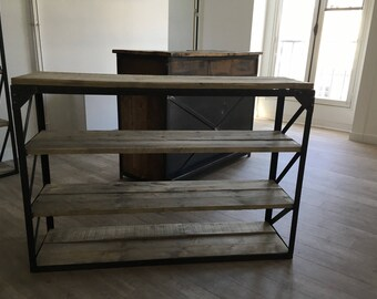 Cabinet industrial bookcase