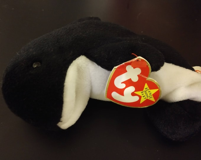 Waves the Whale - Ty Beanie Babies - 1996