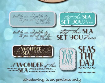Digital Scrapbook: Word Art, Sea Kissed