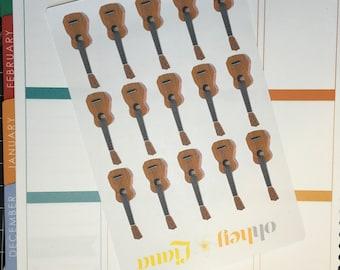 Ukulele \ Guitar Planner Stickers