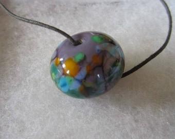 Purple Focal Handmade Lampwork Glass Bead for Jewelry Making, Purple Focal Bead for Jewelry Making, Purple Glass Focal Bead for Jewelry