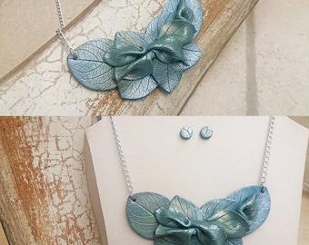 Frozen leafs - Unique handmade necklace + GIFT