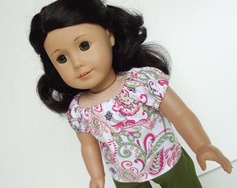 18 Inch Doll Clothes -- Peasant Top -- 1 Piece (5-09)