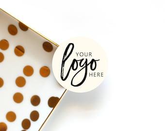 12 x Custom Logo Stickers, 1.6 inches / 4 cm, Custom Logo Label, Logo Sticker Custom, Product Stickers, Product Labels, Set of 12 Stickers