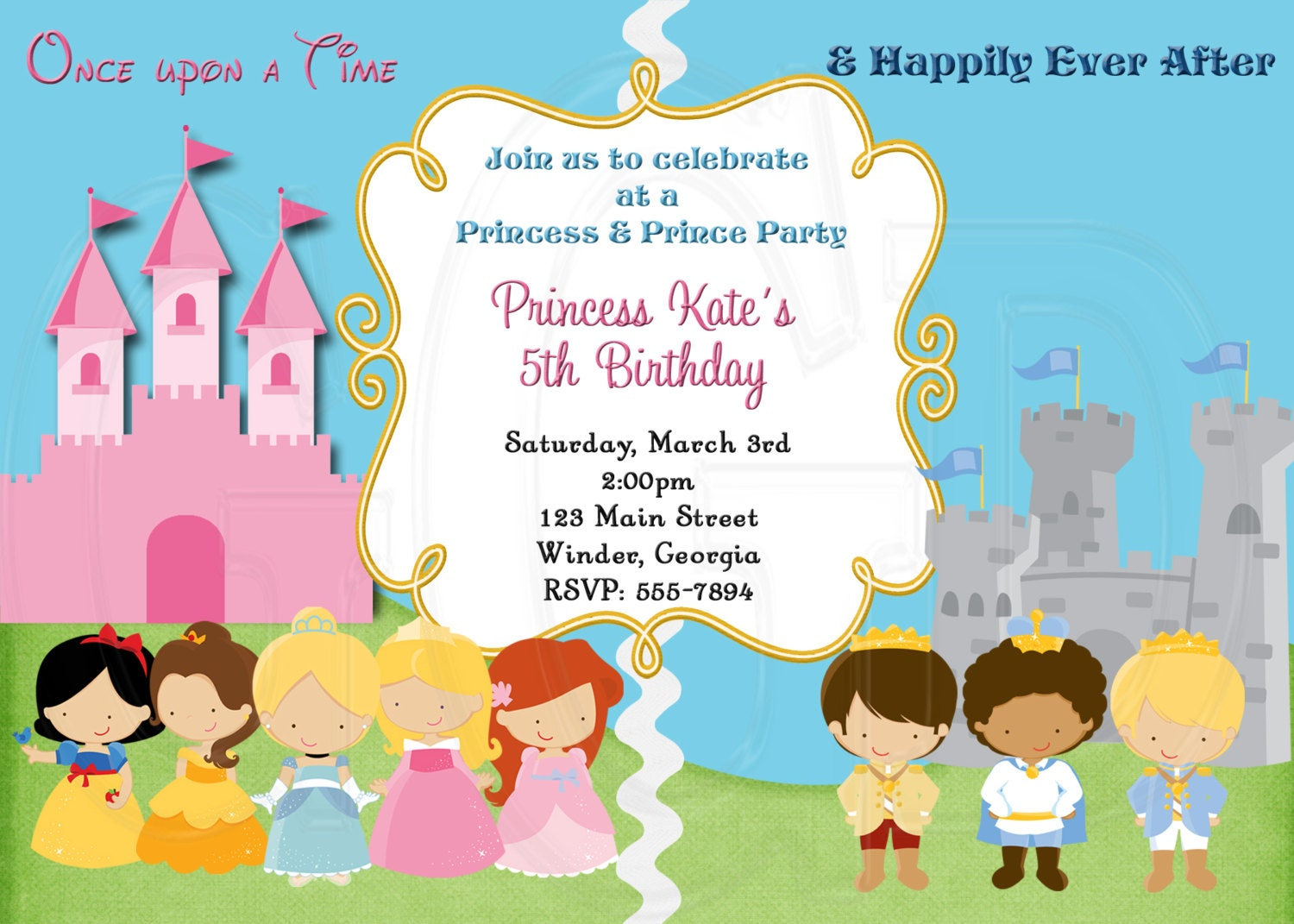 princess and prince party invitations - Kardas.klmphotography.co