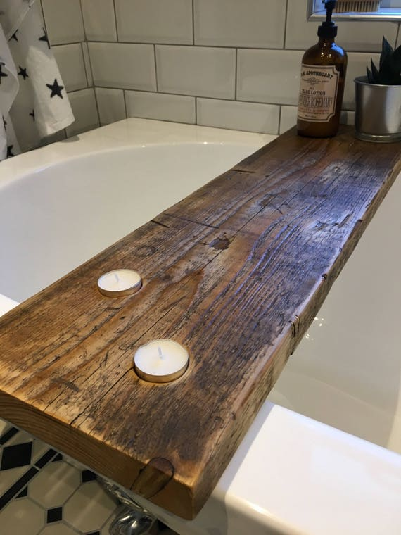 Rustic Wooden Bath Caddy Bath Shelf Bath Tray Scaffold