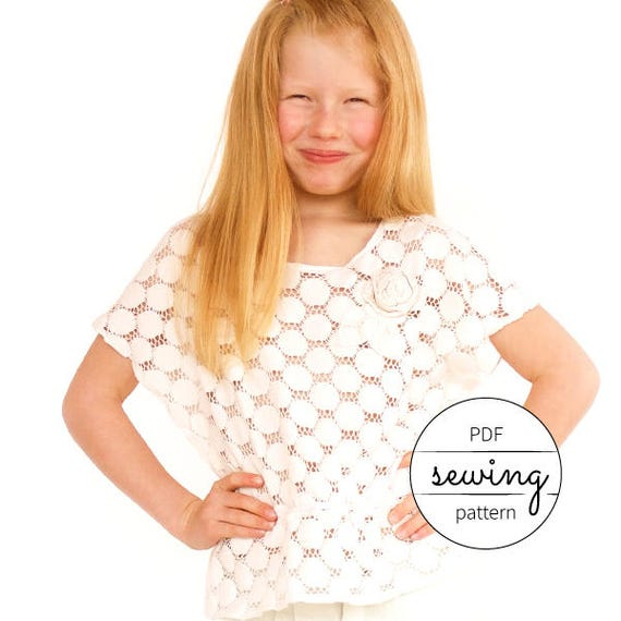 top pattern,kids sewing, modern pattern, beginner pattern, sewing ...