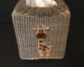 Tissue box cover, giraffe