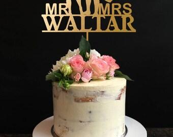 Batmam Wedding Cake Topper, Batmam and Batgirl Wedding Cake Topper, mr and mrs Cake Topper, Personalize Last Name Topper
