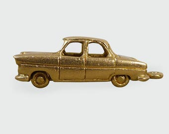 Vintage Ford Consul Car Charm in 9ct Gold c1960 C49
