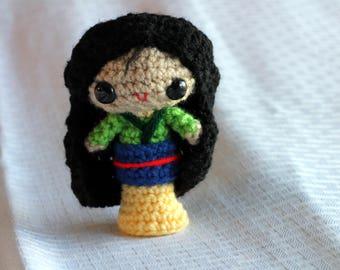 Handmade Disney's Mulan Amigurumi Crochet Doll
