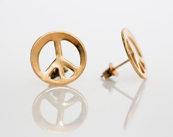 Peace Sign Earrings - Vintage