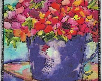 A Beautiful Day, mug rug