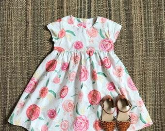 Pink Rose Cotton Dress
