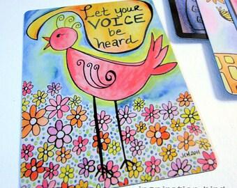 "Art Magnet Let Your Voice Be Heard Bird 3.5"" x 5"""