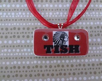 Tishimingo School Spirt Domino Pendnt with Free matching necklace 408