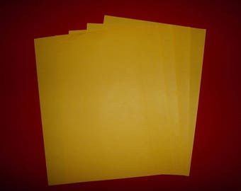 set of 5 sunshine yellow papers 29.5 x 21 cm
