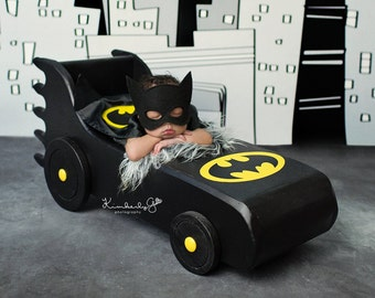 LIMITED EDITION Batmobile Photo Prop, Newborn Photography Prop, Superhero Prop, Batman