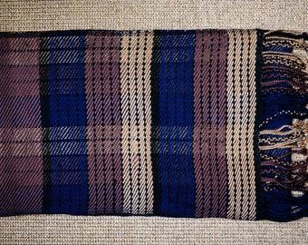 Scarf Lhomond * hand woven Merino Wool