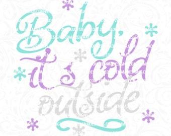 baby its cold outside svg - winter svg - floating ornament svg - ornament svg - christmas ornament svg - holiday svg files - Zemma Designs