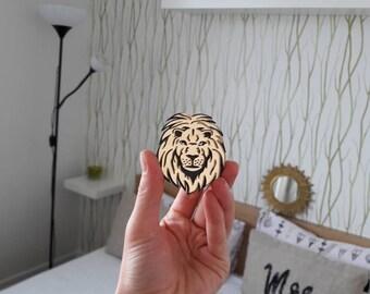 Lion Brooch - Laser Cut Lion - Acrylic Brooch Lion - Lion Pin - Lion animal - King of beasts - Plexiglas - Handmade - Barnaul