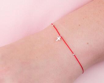 Red String Bracelet Sterling Silver, Red String of Fate, Kabbalah bracelet, Protection Bracelet, Charity Bracelet