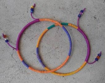 Funky bright bangles