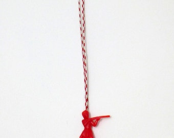 Red and White Native American Kid's/Boy's Necklace