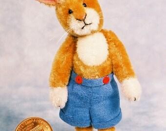 Tom Bunny - Miniature Rabbit Kit - Pattern - by Emily Farmer